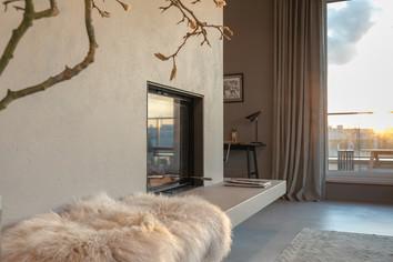 Penthouse mit Kamin