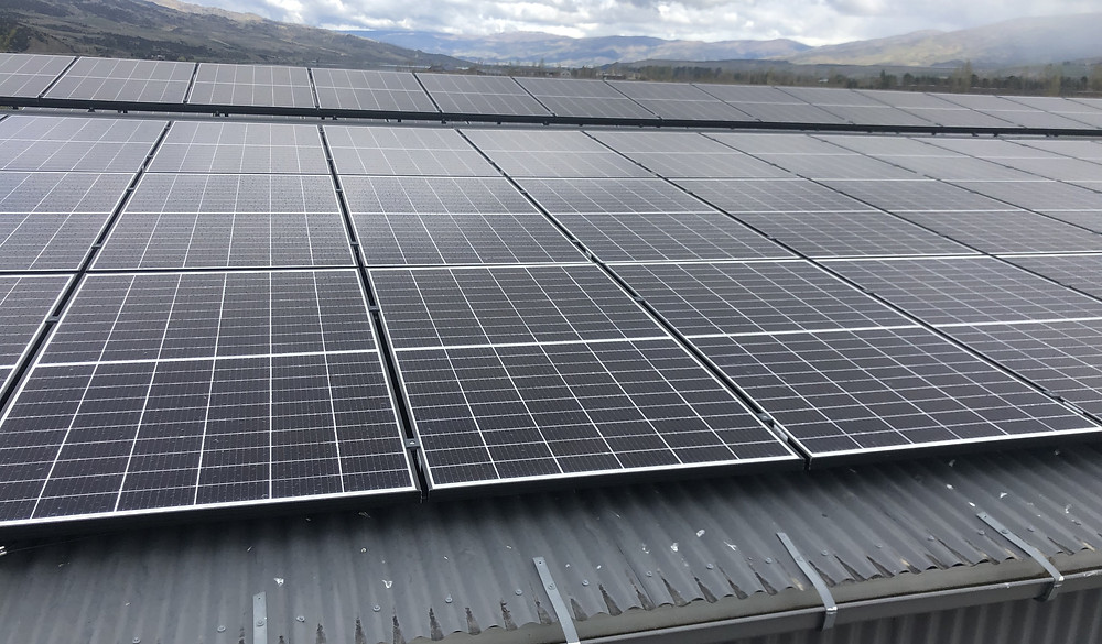 Solar Panels on Forest Lodge Shed Roof