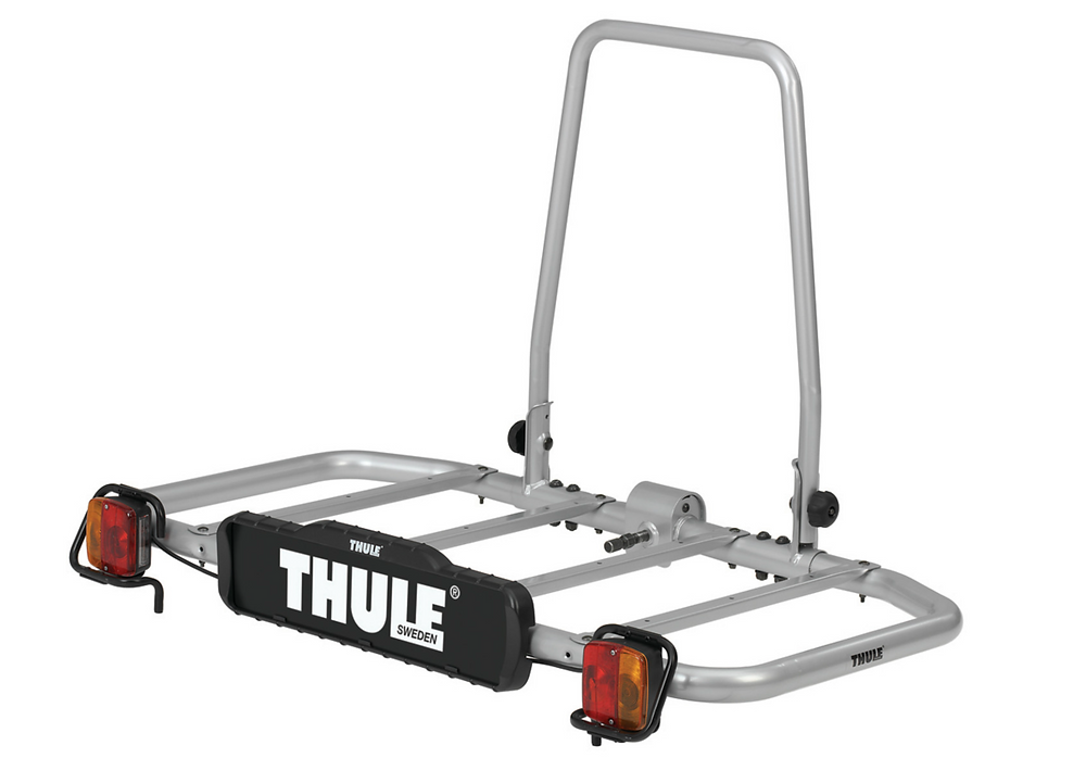 Cargo carrier that goes on the back of the car, mounted on a tow ball