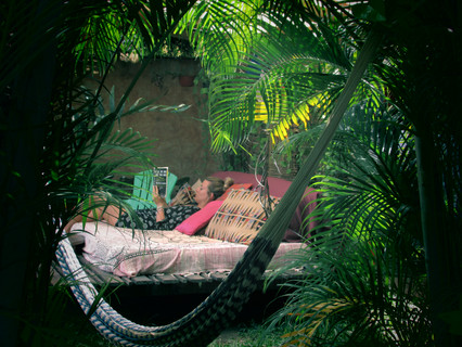 Escape the shade in our Outdoor Bed!!!
