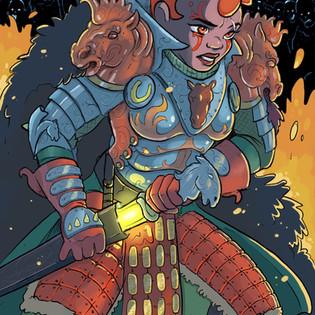 Lady Antia in battle