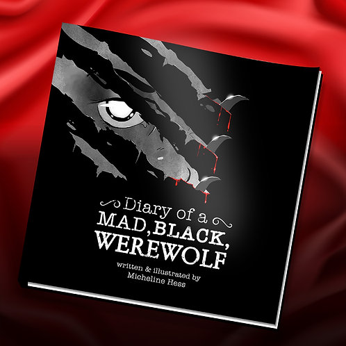 Diary of a Mad, Black Werewolf Softcover Book