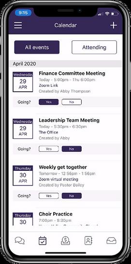 Calendar - Vanco Mobile