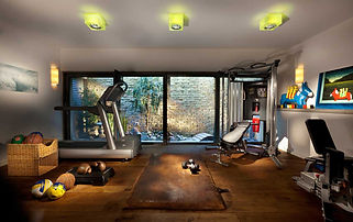 Stunning Designing A Home Gym  Ideas Combine With Hardwood Flooring And White Wall Paint Color Ideas
