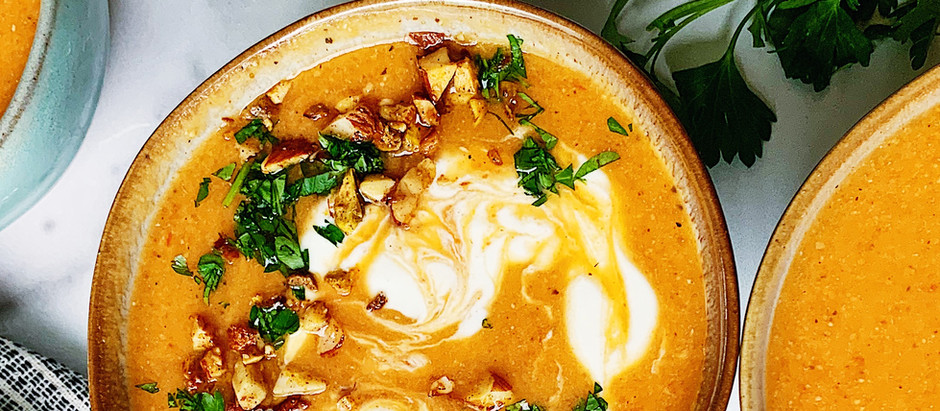Roasted Red Pepper & Lentil Soup