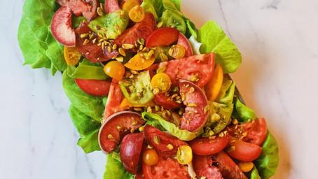 Farmer's Market Salad with Sweet Basil Vinaigrette