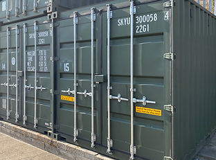 10 ft steel storage container box with CCTV at David Bletsoe-Brown Self Storage - cheap and secure self-storage in Kettering near Corby Wellingborough and Market Harborough in Northamptonshire
