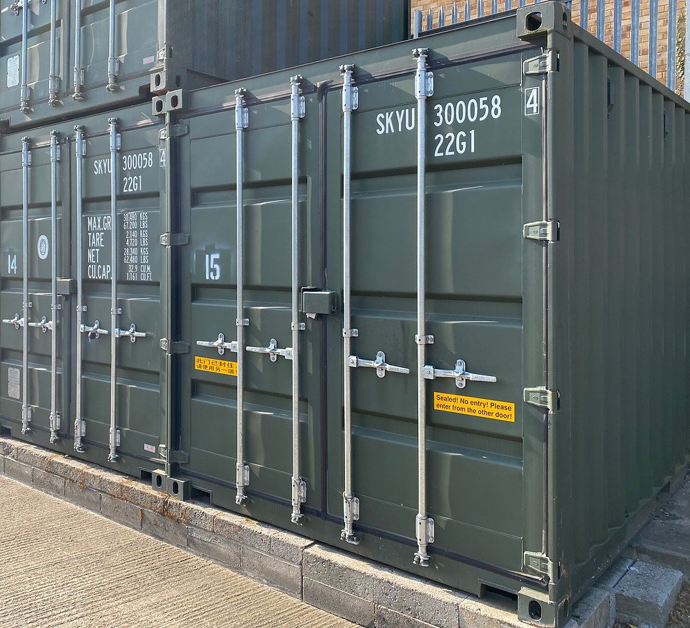 10ft Container Storage Unit at David Bletsoe-Brown Self Storage in Kettering, Northamptonshire