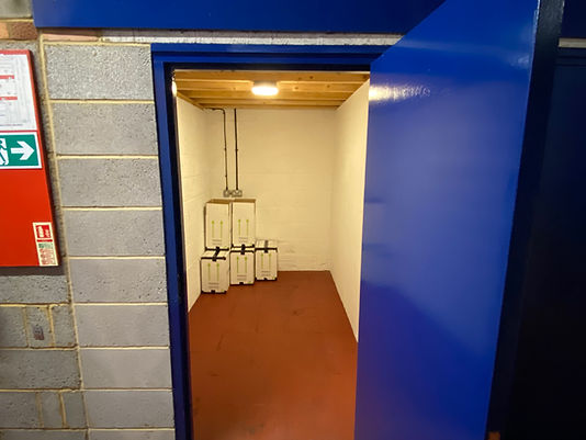 5 x 10 ft inside warehouse unit at David Bletsoe-Brown Self Storage cheap and secure self-storage in Kettering, Northamptonshire