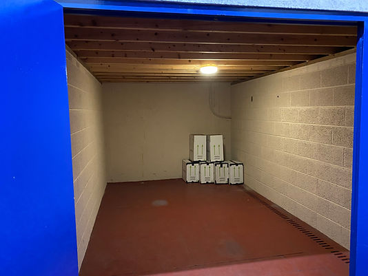 10 x 15 ft inside warehouse unit at David Bletsoe-Brown Self Storage cheap and secure self-storage in Kettering, Northamptonshire