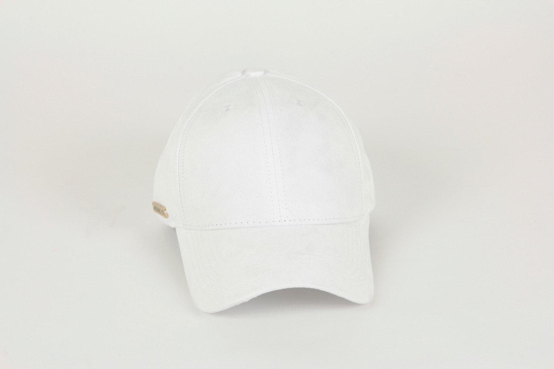 98a55b26dbaba7 Luxury Suede Baseball Cap -White | websiteanimaleyemain