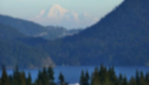 View of Mt Baker from Elphinstone Crossi