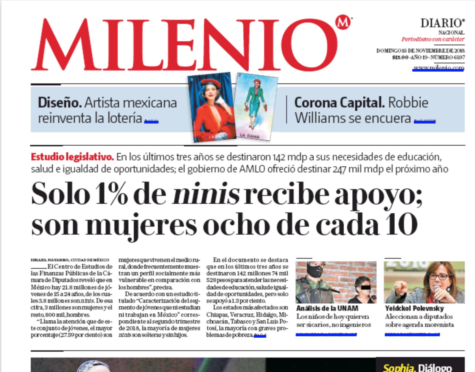 Milenio PRINTED COVER