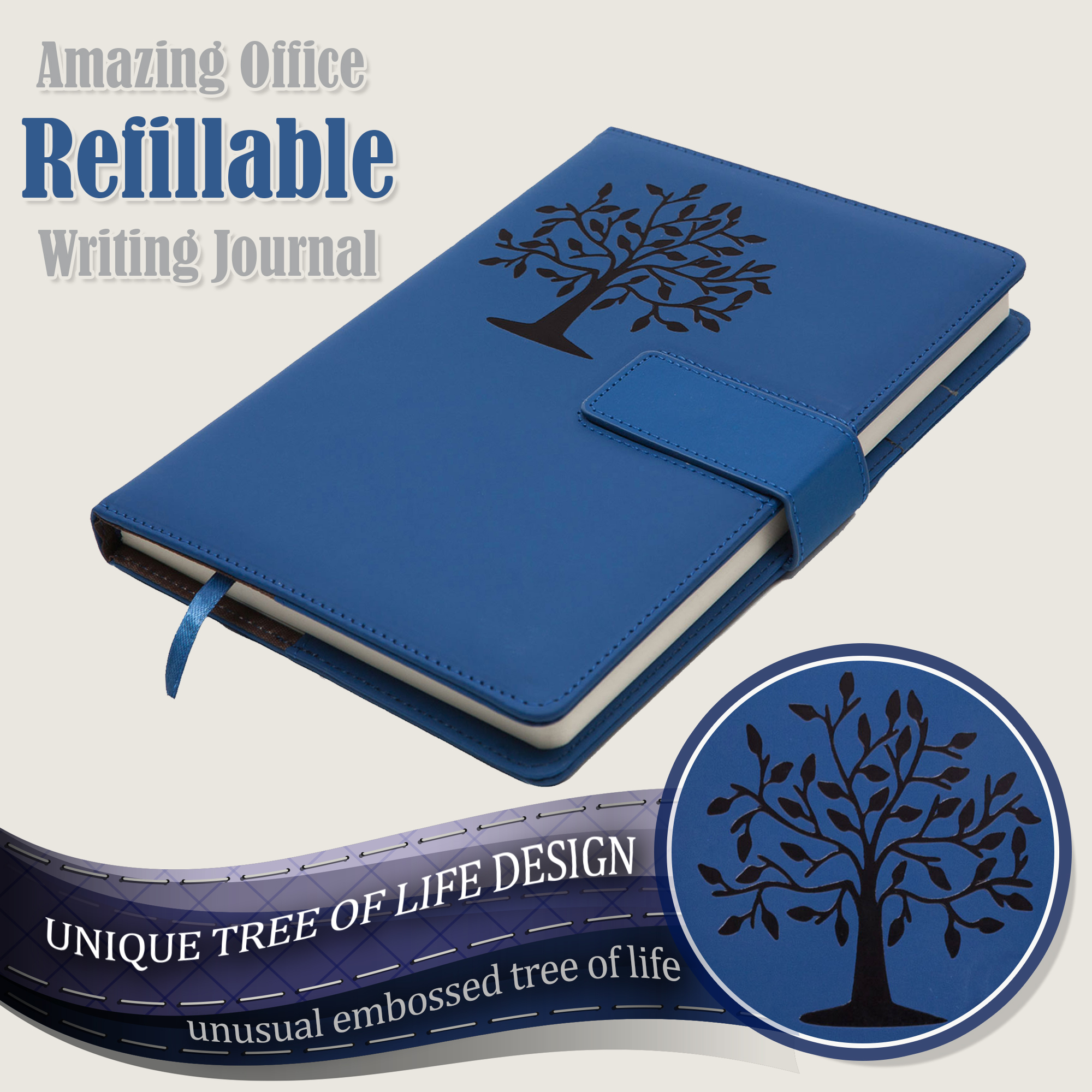 Tree Of Life Refillable Writing Journal