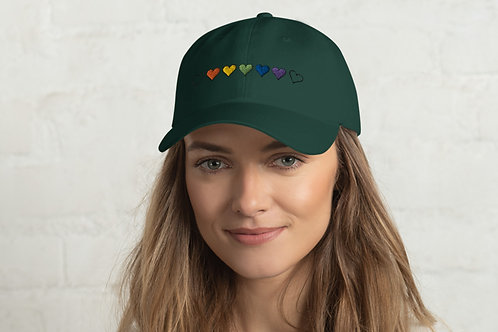 7 Rainbow  Hearts - Hat - Show Your Love and Pride With This Colorful 7 Heart De