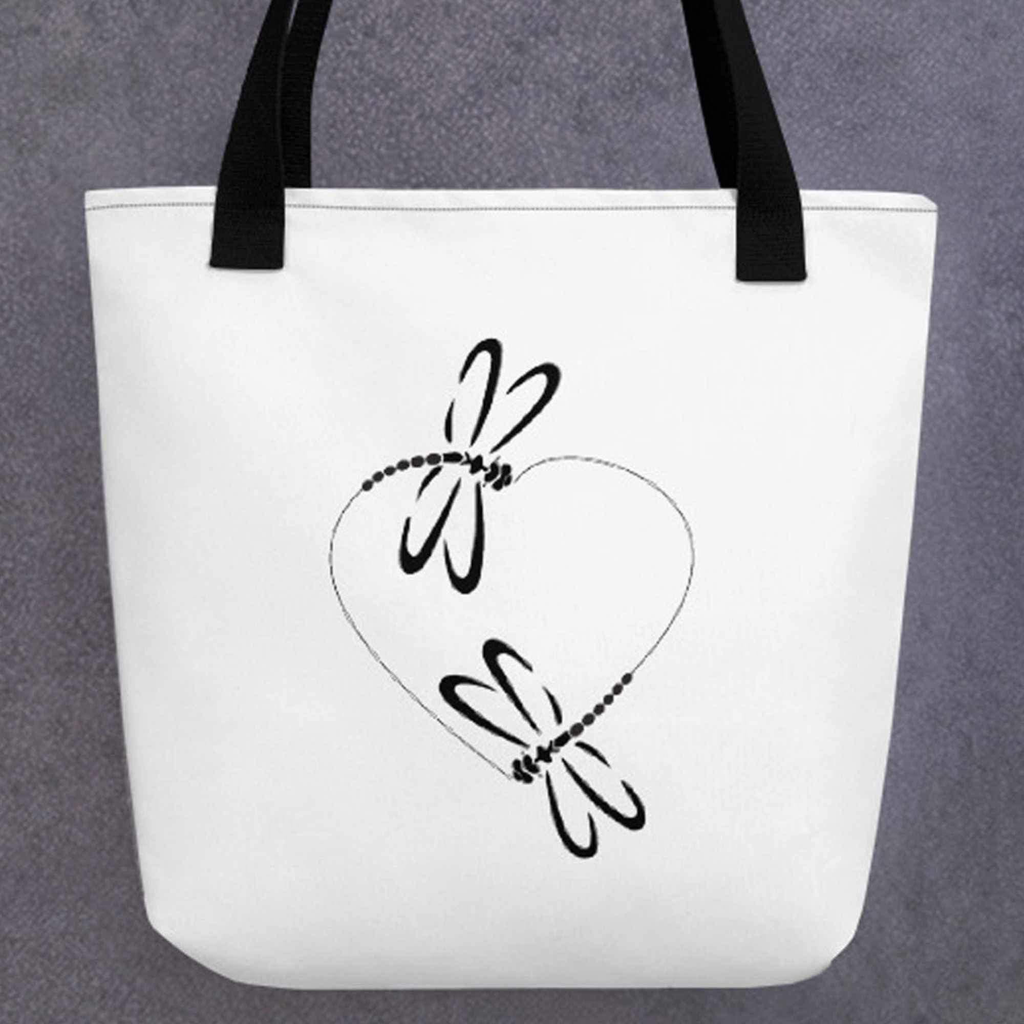 Dragonfly Heart Tote Bag
