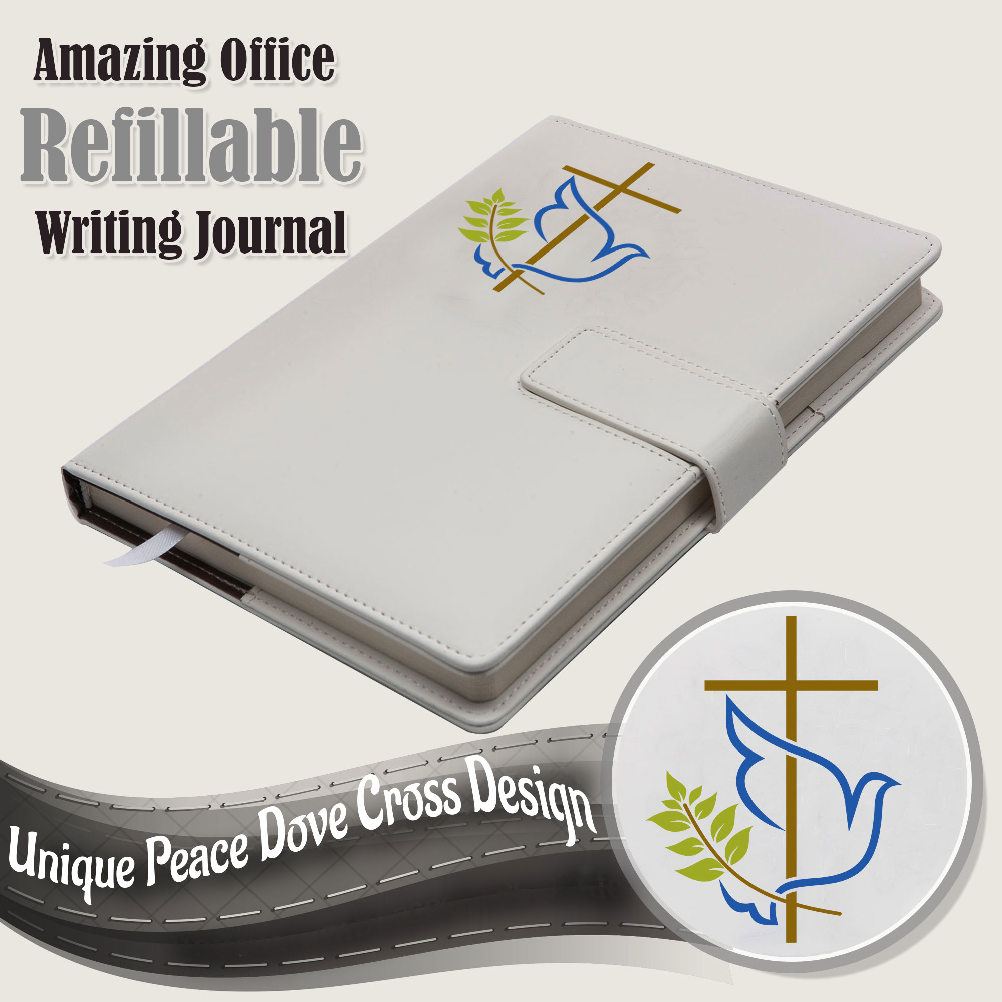 The Peace Dove Refillable Writing Journa