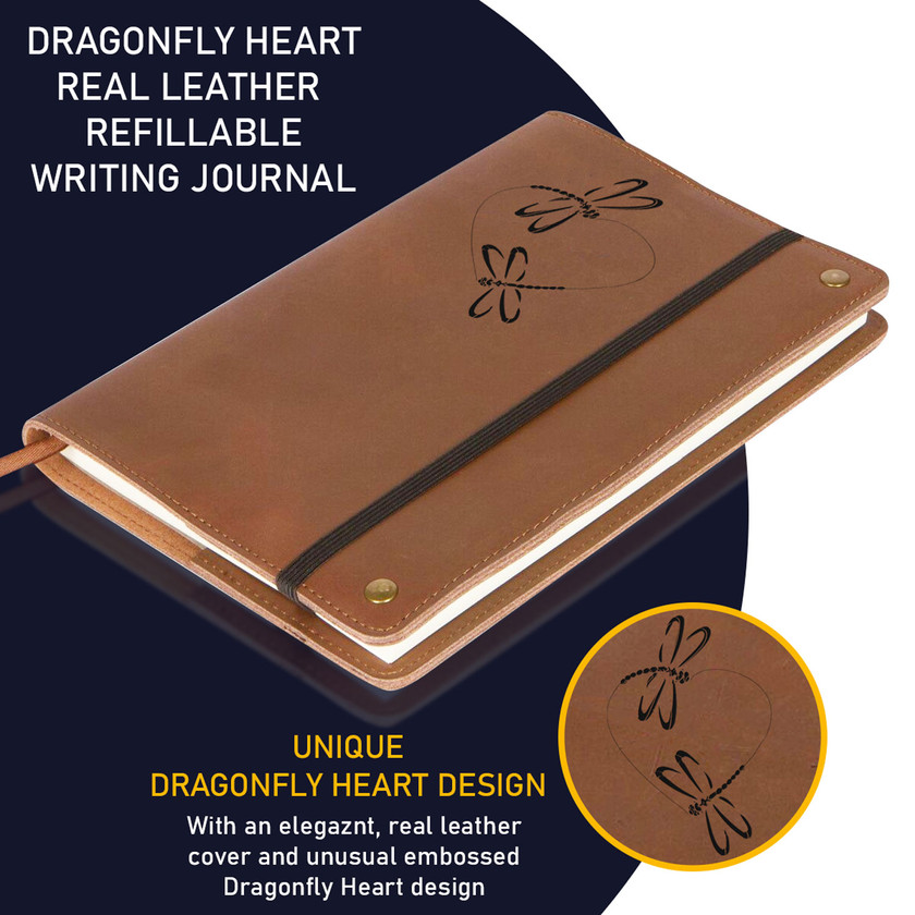 The Dragonfly Heart Real Leather Journal