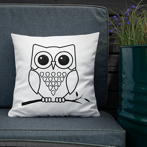 Owl - Premium Throw Pillows