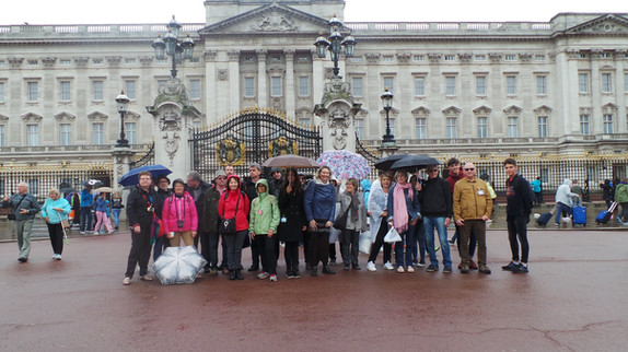 Devant Buckingham Palace