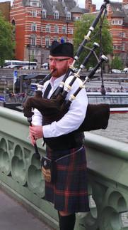 Sur le pont de Westminster....