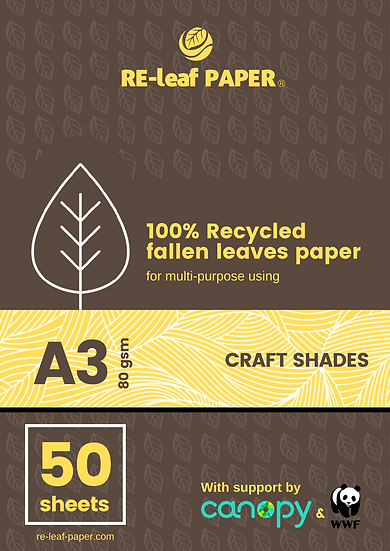 RE-leaf Paper - Fallen leaves fiber (A3 x 50 sheets)