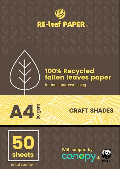 RE-leaf Paper - Fallen leaves fiber (A4 x 50 sheets)