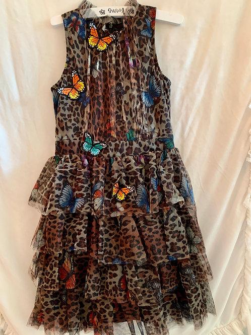 Ruffled Cheetah Butterfly Dress