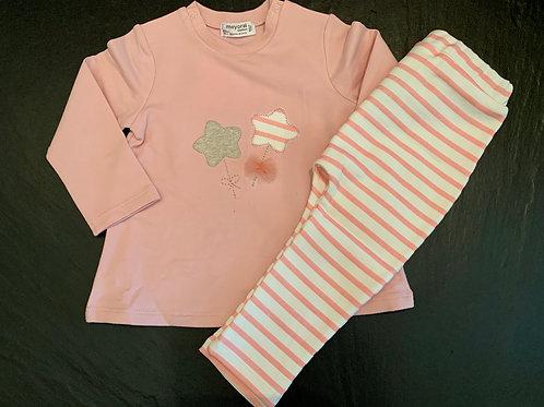 Pink Star Long Sleeve 2pc