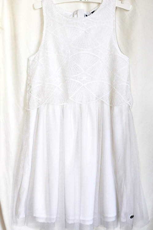 White Lace and Tulle Tank Dress