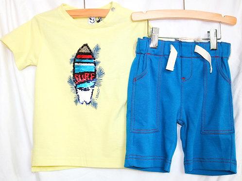 Surf Shirt and Blue Shorts