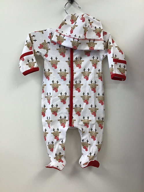 Rudolph Footies with Hat