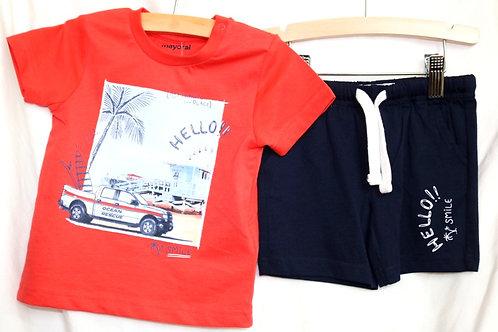 Orange Surfer Shirt 2pc