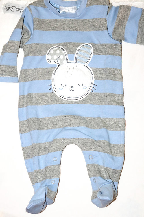 Striped Big Bunny Footsie
