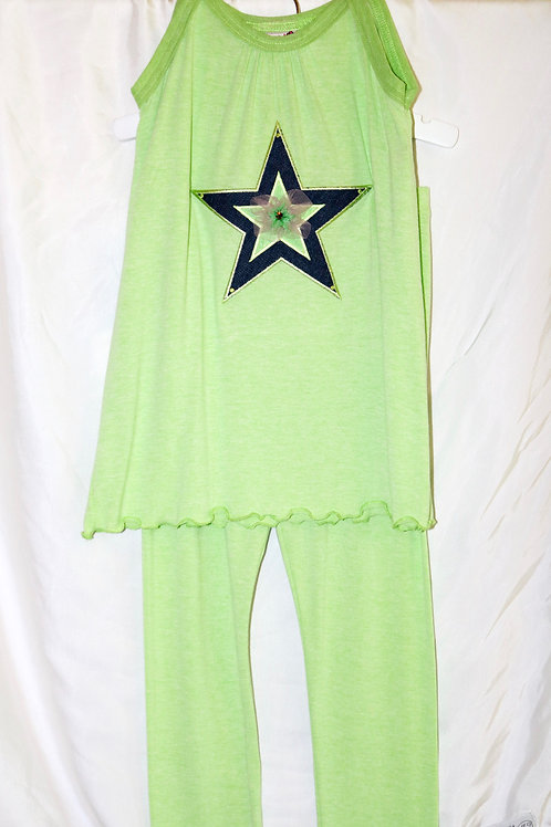 Green Star Tank Top 2pc