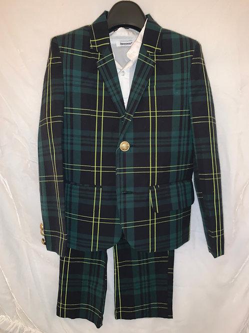 Classic Green Plaid Suit