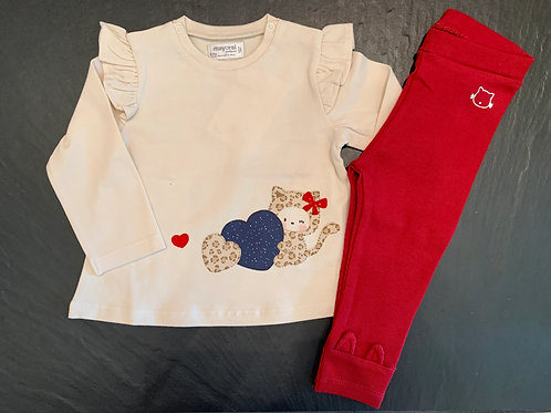 Creme Cheetah Cat Long Sleeve 2pc
