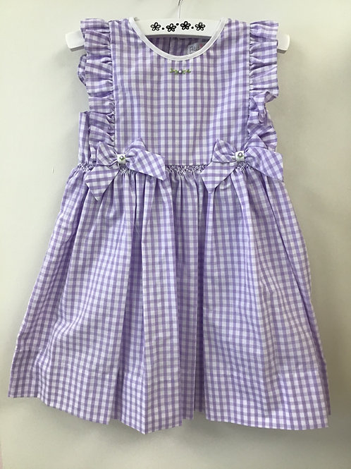 Lavender Check Dress