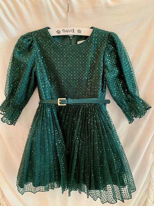Green Sequent Dress
