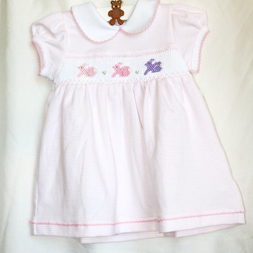 3 Bunny Smocked Dress With Bloomers