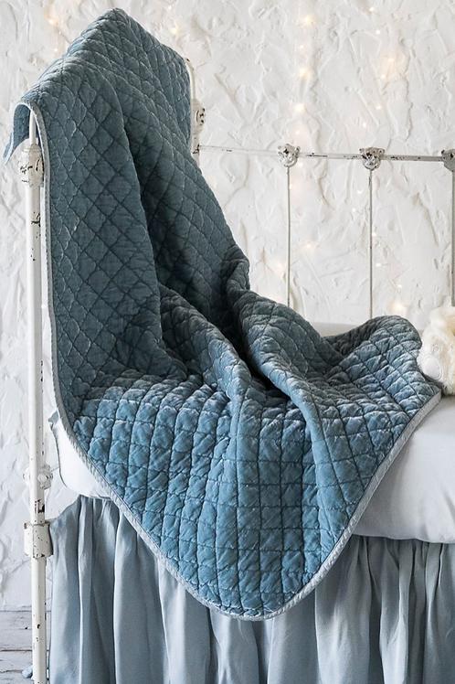 Silk Velvet Quilted Baby Blanket