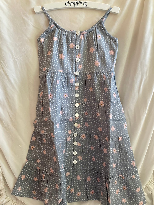 Grey and Pink Flowered Dress