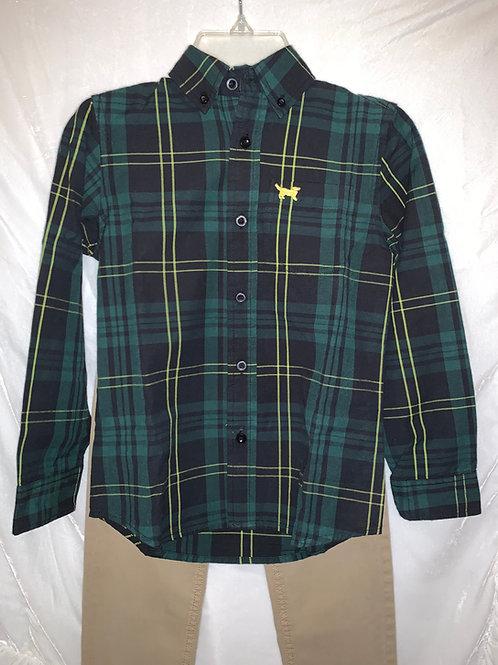Jack Thomas Green Button Up Shirt