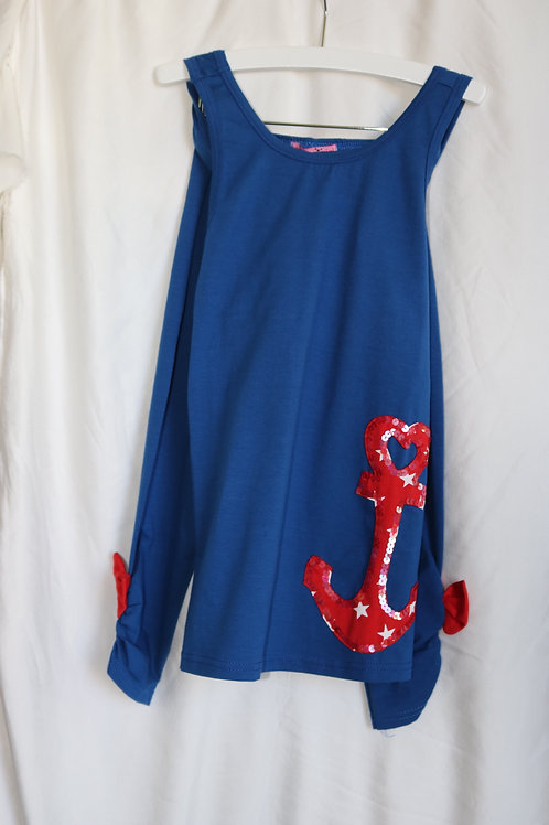 Red and Blue Anchor 2pc