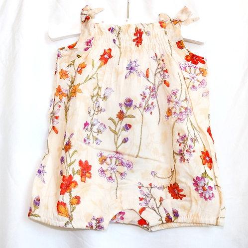 Cream Flower Onesie