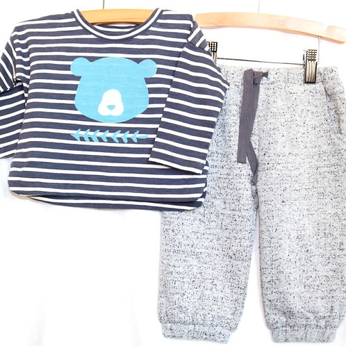 Bear Long Sleeve and Sweats 2pc