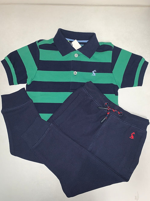 Joules Green & Blue Polo
