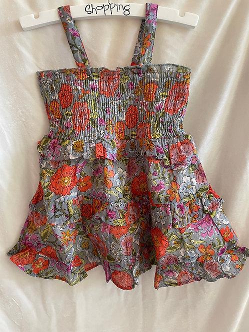 Scrunched Flower Dress