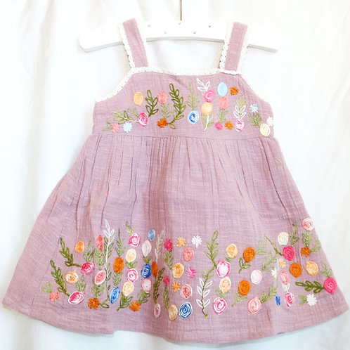 Purple Dress With Bloomers