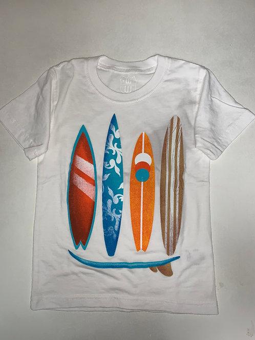 W&W White Surfboard Tee